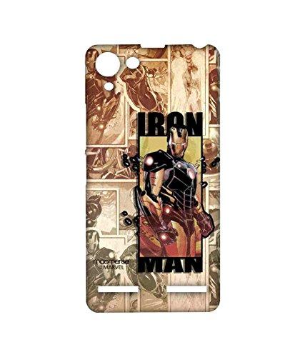 Macmerise Licensed Marvel Comics Ironman Premium Printed Back cover Case for Lenovo Vibe K5