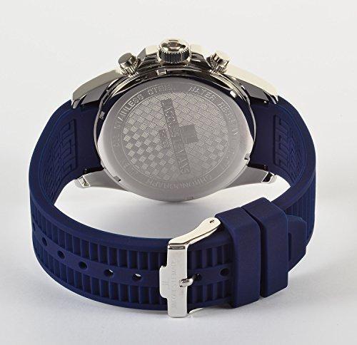 JACQUES LEMANS Herrenuhr Liverpool Silikonband massiv Edelstahl Chronograph 1-1799C