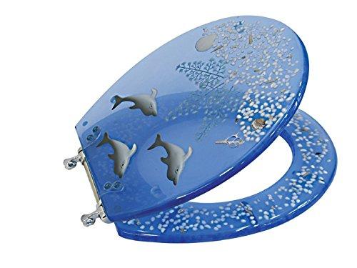 Silicon coperchio del WC A179 (delfini / Shell) Confezione da