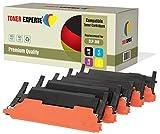 TONER EXPERTE® 5 Premium Toner kompatibel für Samsung CLP-360, CLP-360N, CLP-365, CLP-365W, CLP-368, CLX-3300, CLX-3305, CLX-3305FN, CLX-3305N, CLX-3305W, CLX-3305FW, Xpress C410W, C460W, C460FW, C467W, CLT-K406S, CLT-C406S, CLT-M406S, CLT-Y406S