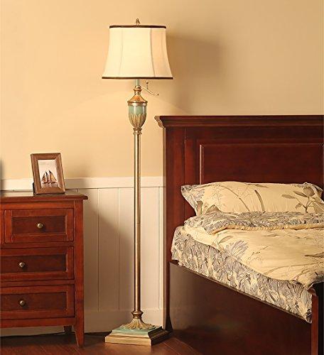 FAFZ Lampada da Terra Soggiorno Lampada da Terra Camera da Letto Vintage  Americano Lampada da Terra Verticale