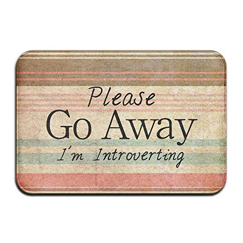 Please Go Away I'm Introverting Door Mats Outdoor Mats -