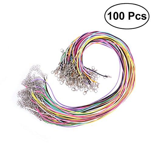 Collana di cordoncino rosenice cordino collana cerato per gioielli fai da te colorati in 1.5 mm (100pcs)