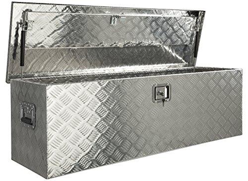Aluminium Werkzeug Metallbox Alubox Alukiste Werkzeugkiste Werkzeugkasten Metallkiste Box Blechkiste ca.180 L Truckbox - 2