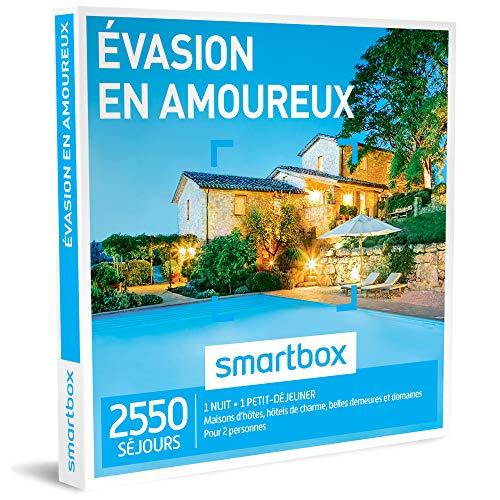 SMARTBOX - Coffret Cadeau - ÉVASION EN AMOUREUX - 2550 séjours : maisons d'hôtes, hôtels de charme, auberges et domaines