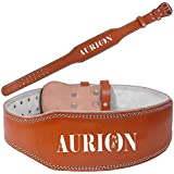 Aurion Leather Weight Lifting Belt Body Fitness Gym Back Support Power Lifting Belt