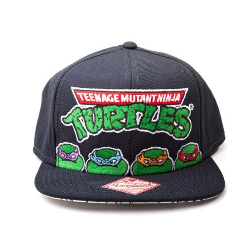 Teenage Mutant Ninja Turtles - alle Helden einstellbarer Cap Snap-Back Baseball Kappe Mütze Hut Original & (Turtles Original Ninja Mutant Kostüm Teenage)