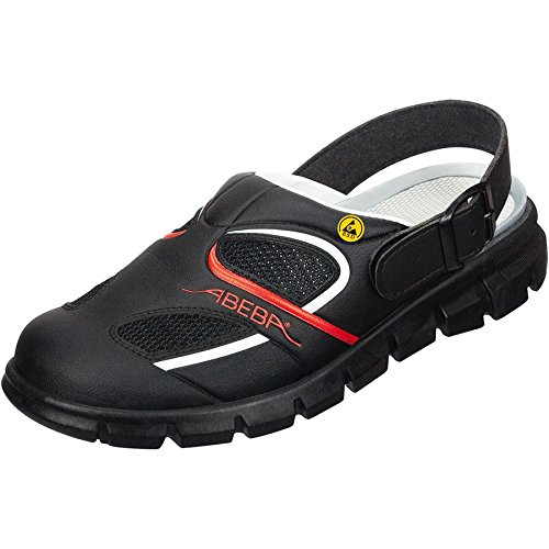 Abeba 37342-47 Dynamic Chaussures sabot ESD Taille 47 Noir/Rouge