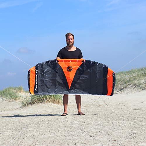 Wolkenstürmer Paraflex Quad 1.7, 4-Leiner Action Lenkmatte - Hochwertiger Kite mit Handels - optional mit Bar