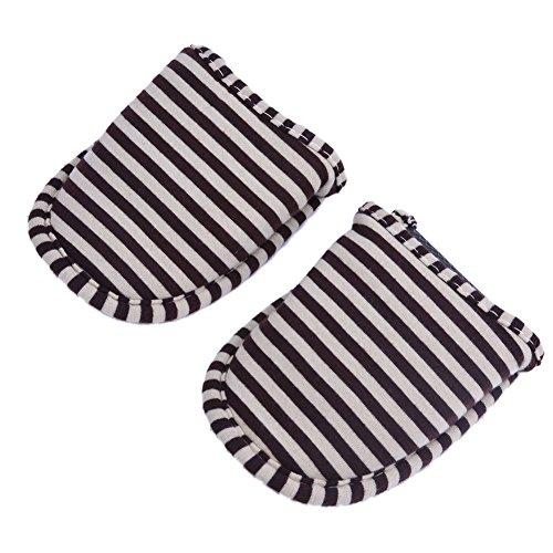 VGEBY 1 Paio Pantofole Pieghevoli Antiscivolo con Sacchetto di Stoccaggio per Casa Volo Albergo Interno ( Colore : Blue Stripes for Men ) Coffee Stripes for Women