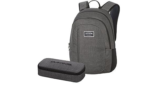 1217eab0688e3 DAKINE 2er SET Laptop Rucksack Schulrucksack FACTOR UPDATE + SCHOOL CASE  Mäppchen Carbon  Amazon.de  Koffer