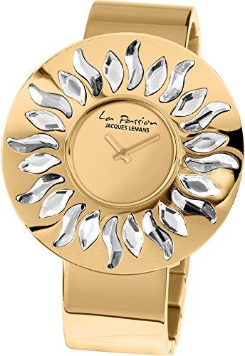 Jacques Lemans Damen Analog Quarz Uhr mit Edelstahl Armband LP-119C