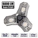LED Garage Lights, 60W 6000LM E27 LED Garage Light Bulbs for Full Area