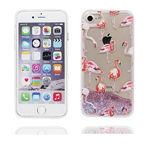 """iPhone 6S Coque, cheval Skin Hard Clear étui iPhone 6 / 6S, Design Glitter Bling Sparkles Shinny Flowing iPhone 6 Case Shell 4.7"""", Apple iPhone 6S Cover 4.7"""", résistant aux chocs # 4"""