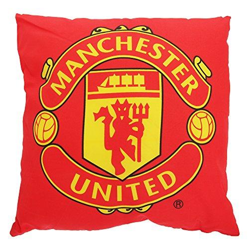 Manchester FC Kinder Zierkissen mit Club Wappen (Einheitsgröße) (Rot/Gelb) -