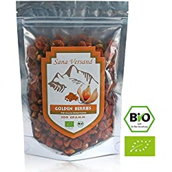 Golden Berries BIO Physalis aus Peru Trockenfrüchte, schön Sauer und Vitaminhaltig, zum Naschen, ohne Schwefel, ohne Zuckerzusatz, 200gr