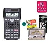 Casio FX-85MS + Geometrie-Set + Lern-CD (auf Deutsch) + Erweiterte Garantie