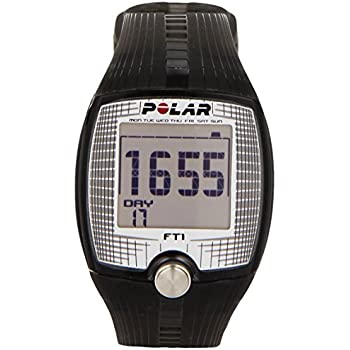 Polar FT1 Cardiofrequenzimetro, Resistente all'Acqua fino a 30 m, Nero