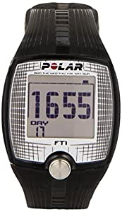 Polar FT1 Cardiofrequenzimetro, Resistente all'Acqua - 30 M, Nero