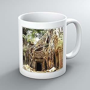 Kat Angor Cambodge n ° 1–imprimé Motif tasse de thé/café