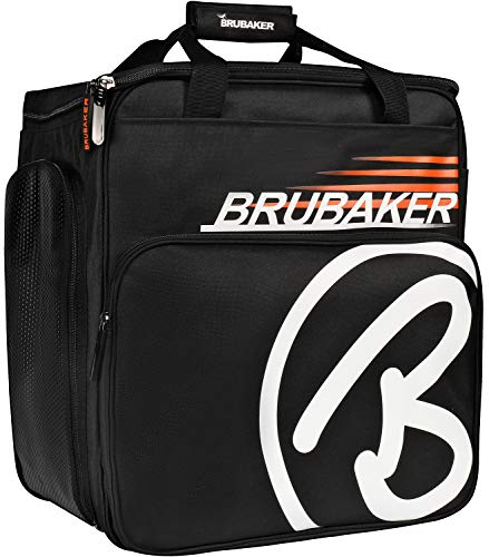 BRUBAKER Super Champion Skischuhtasche Helmtasche Skischuhrucksack Schwarz Orange