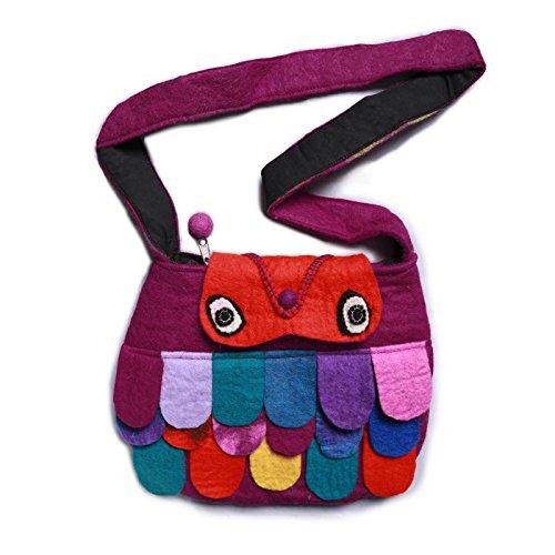 Schultertasche Wolle Lila aus Kunst Magie Damenhandtasche Filz und wt7q4g