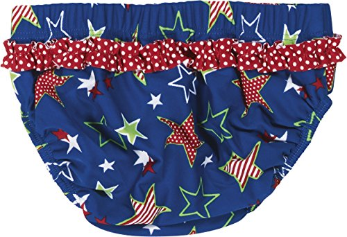 Playshoes Baby - Mädchen Schwimmwindel Badewindel, Badehose Sterne, UV-Schutz nach Standard 801 und Oeko-Tex Standard 100, Gr. 86 (Herstellergröße: 86/92), Blau (original 900) -
