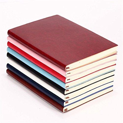 XZANTE 6 Farbe Random Weich Cover PU Leder Notizbuch Schreiben Journal 100 Seite Gefuettert Tagebuch Buch - Journal Gefüttert Schreiben