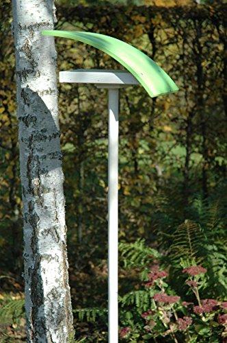 """Luxus-Vogelhaus 31003e Design-Vogelfutterhaus """"New Wave"""" in weiߟ mit hellgrünem Dach, inklusive Ständer Gesamthöhe circa 174 cm - 2"""