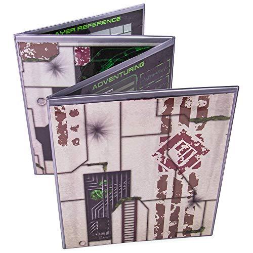 The Master Matrix 4-teiliges GM-Display mit gratis Einsätzen, Trockenlöscher, Dungeon und Game Master Zubehör für Tabletop RPG-Kampagnen silber - Master Game Rpg
