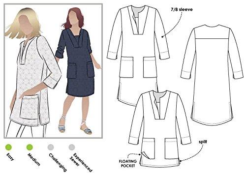 Style Arc Patron de couture-Roslyn Tunique, Sizes 04-16