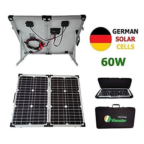 Kit panneau solaire portable 60W 12V cellules allemandes