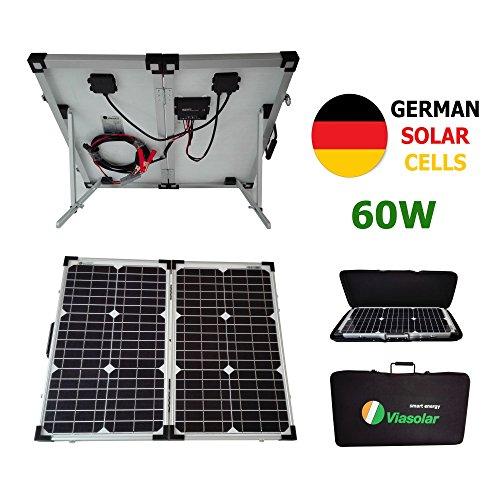 Kit panel solar portátil 60W 12V células alemanas