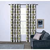 """Best Leaf Curtains - Leaves Lined Eyelet Curtains (66"""" x 54"""") Review"""