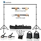 #10: LimoStudio 10 x 8.5 ft Adjustable Photo Video Background Muslin Stand, Backdrop Support System Kit with Accessories, Spring Clamp, Sand Bag, AGG2612