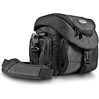 Mantona Premium - Bolso para cámaras réflex con correa de transporte, color negro