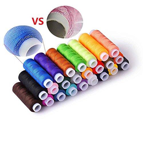 Level - set di accessori da cucito portatile, 24 rocchetti di filo colorato, per cucire e cucire
