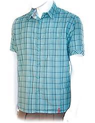Altus Bahi - Camisa para hombre, color azul, talla L