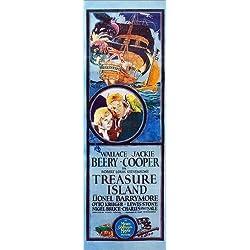 """Placa de Alu-Dibond """"Treasure Island"""" de Everett Collection, 60 x 180 cm."""