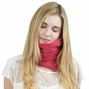 Trtl®NapScarf - Support de cou minerve - Oreiller voyage - Corail