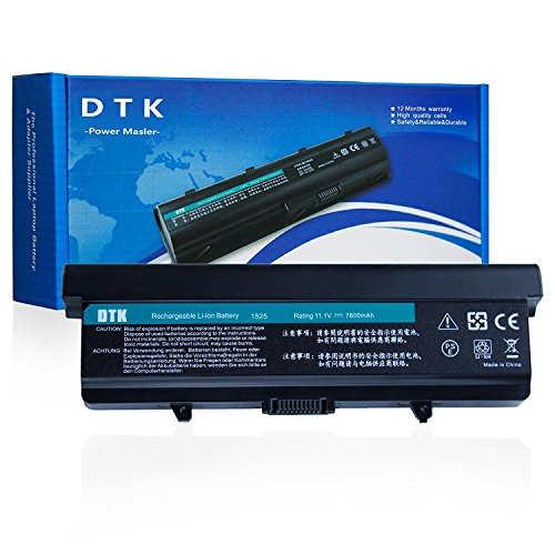 Dtk® Ultra Hochleistung Notebook Laptop Batterie Li-ion Akku für DELL Inspiron 1525 1526 1545 1546 VOSTRO 500 . K450N pp29l gw240 hp277 rn873 x284g[ 9-cell 11.1V 6600mah / 73wh] Notebook battery -