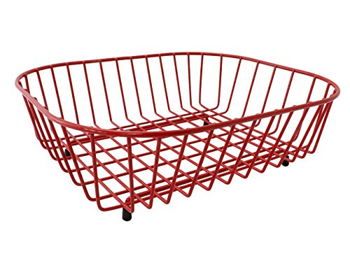 Delfinware recouvert de plastique ovale évier Égouttoir à vaisselle en rouge 2947rd