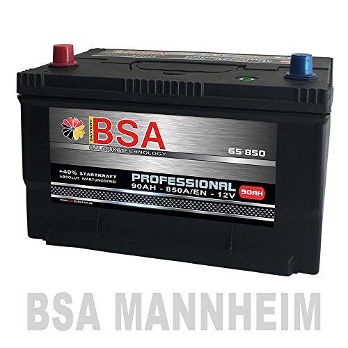 US Autobatterie 90Ah 850A/EN USA Batterie 65-850 statt 80Ah 85Ah