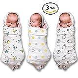 Musselin Wickeltücher für A Baby Boy & Girl (3 Pack) 100 % Baumwolle, größe 119,4 x 119,4 cm