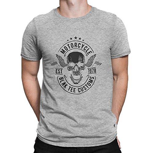Motorcycle Blak Tee Customs Cafe Racer Style Herren T-shirt L