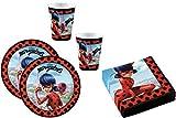 Miraculous Ladybug - Juego de platos y servilletas para 16 niños (52 piezas)