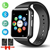 ANCwear Smart Watch, Bluetooth Sports Watches with Pedometer Activity Fitness Trackers with Camera Music Sleep Monitor for Women Men Kids Compatible iPhone Android Phones