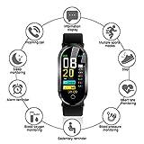 LayOPO IP67 Wasserdichter Fitness-Tracker, T1 Smart-Watch, Aktivitätstracker, Sportsocken, Bluetooth-socken mit Herzfrequenz/Blutdruck/Blutsauerstoff-Überwachung, Schrittzähler, GPS-Track B&b