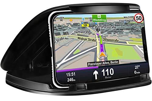 Handyhalter fürs Auto,Armaturenbrett Auto halter Smartphone Auto Halterung mit Rutschfest für Alle 3-6.8 Zoll Geräte kompatibel für iPhone Xs Max,X,8,7,Samsung S10 S9,Huawei,andere Smartphone,Schwarz