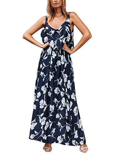 Happy Sailed Womens Floral Print Sleeveless Maxi Dress S-XXL